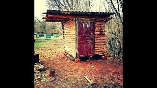 Русская баня в лесу, своими руками. Без вложения денег.