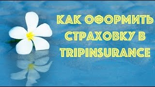 как оформить страховку tripinsurance?