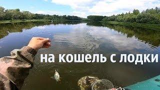 рыбалка с лодки на кошель