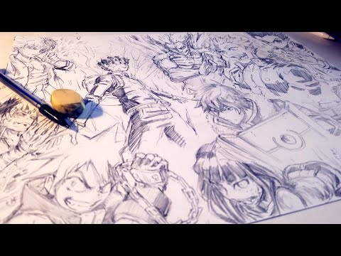 Drawing EPIC 10 Anime Character Splash Page - Anime Manga Sketch thumbnail