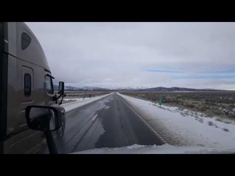 BigRigTravels - Interstate 80 Westbound starting from Mile 392 Oasis, Nevada area - Feb 27, 2017