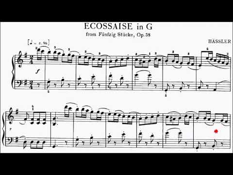 LCM Piano 2018-2020 Grade 2 List A7 Hassler Ecossaise in G Op.38 No.23 Sheet Music