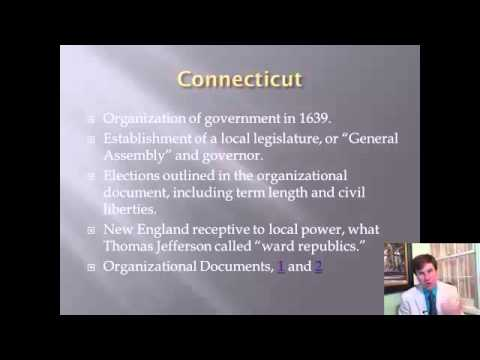 Constitutional History Lecture 2: Colonial Constitutionalism