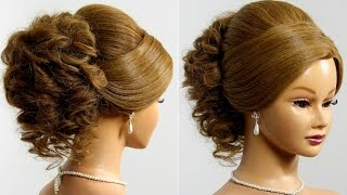 Prom wedding updo. Hairstyle for long medium hair
