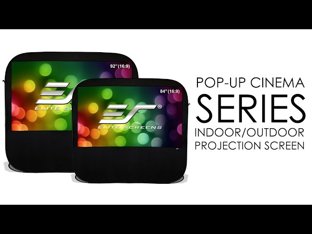 Elite Screens Pop-Up Cinema Series Indoor/Outdoor Projection Screen