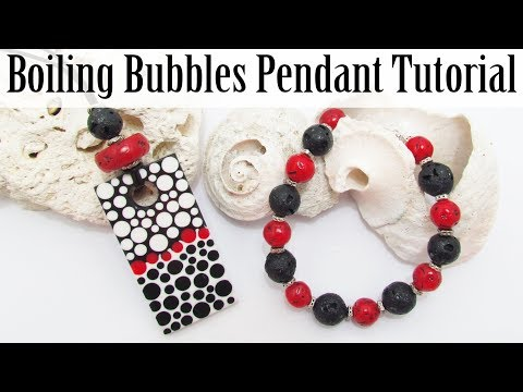 GIVEAWAY: Polymer Clay Project: Boiling Bubbles Pendant Tutorial