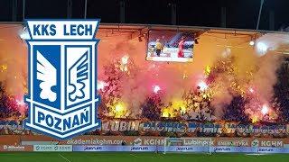 Kibice Lech Poznań na stadionie Zagłębia - oprawa 20.04.2018