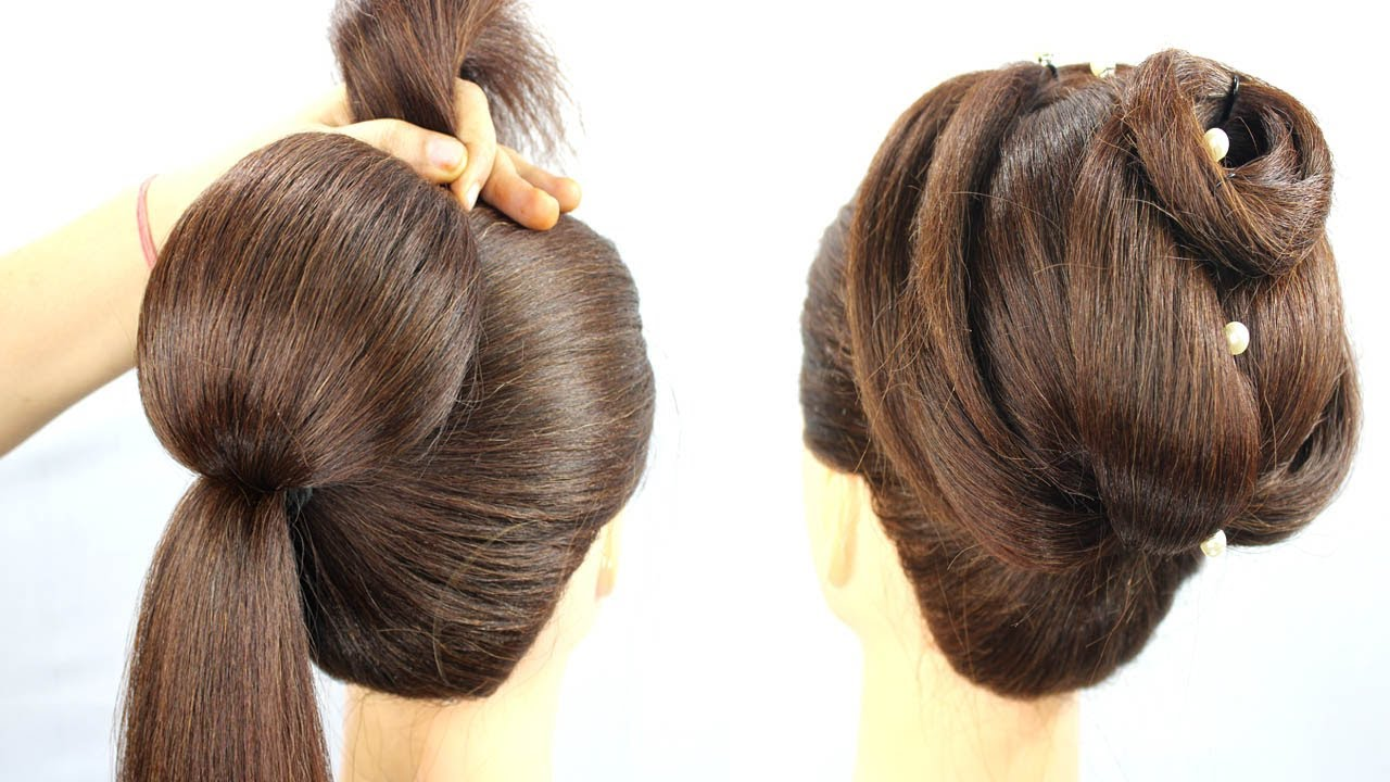 Easy Hairstyle Ideas For Beginners || Cool Hairstyle For Wedding and Party #bun #HairTrick
