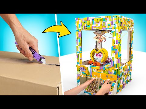 How to Make Cardboard Claw Machine With Toys 🧸