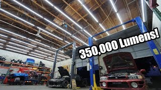 epic-shop-lighting-upgrade-more-than-50-big-lights-in-one-shop-insanely-bright