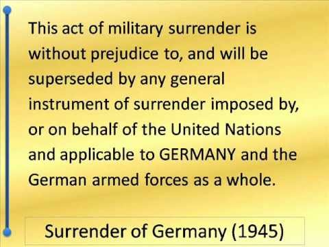 Surrender of Germany 1945 -- Hear and Read the Full Text