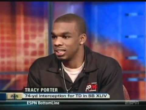 ESPN  NFL LIVE Interview with Tracy Porter