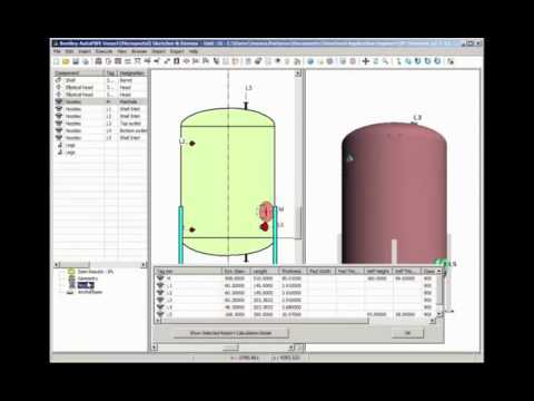 Vessel Design using AutoPipe Vessel
