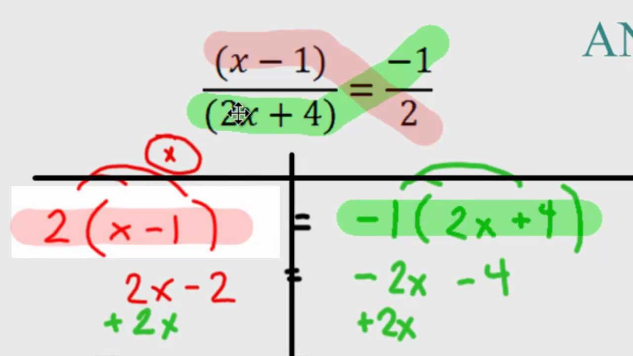 Algebra  Solving Harder Equations With Ratios (fractions)