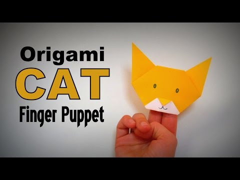 Origami - How to make a CAT (HAND PUPPET)