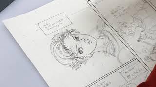 貴重映像 山岸凉子が原稿にジャンヌ・ダルクを描く!