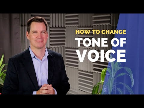 How To Change Tone Of Voice