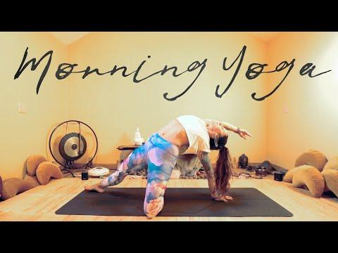morning yoga  15 min hip opening yoga  low back