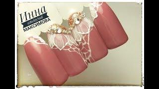 🌸 ПРОСТОЙ дизайн ногтей для НАЧИНАЮЩИХ 🌸 FIORE 🌸 ЦВЕТОК на ногтях 🌸 Дизайн ногтей гель лаком 🌸