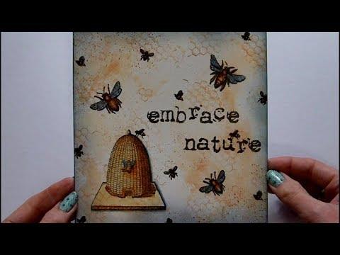 6 x 6 Mixed Media Challenge -  Bees - #ArtfulEvidence