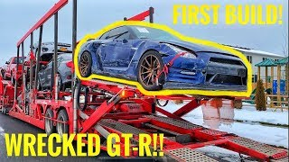 Rebuilding A Wrecked 2015 Nissan GT-R! Part 1