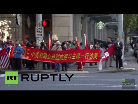USA: Xi Jinping arrives in Seattle for first official US state visit