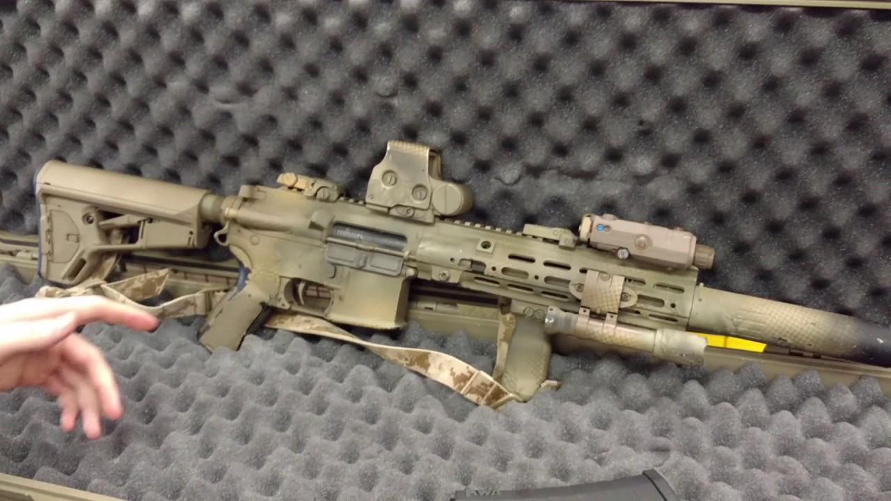 The Arsenal - Zach's HK416 build with Geissele Rail