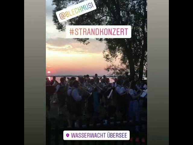 Strandkonzert 2019 Wasserwacht Blaskapelle Übersee-Feldwies