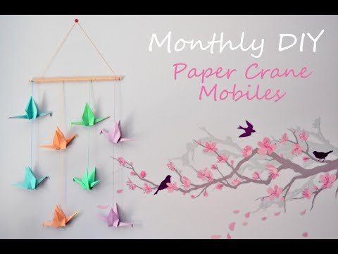 DIY Origami Paper Crane Hanging | How to Make Origami | Brown Art