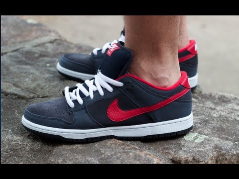 newest f7d99 00919 Nike Dunk Low Pro SB On Feet Dark Obsidian Gym Red