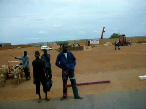 Niamey, Niger, Busride from Niamey city center to the airport