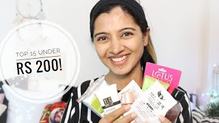 Budget Beauty #13: Top 15 Under Rs 200 _ Branded Beauty & Makeup Products | Nykaa Haul