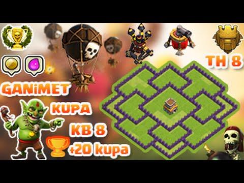 Clash of Clans 8.Seviye Köy Düzeni (Ganimet ve Kupa) town hall 8