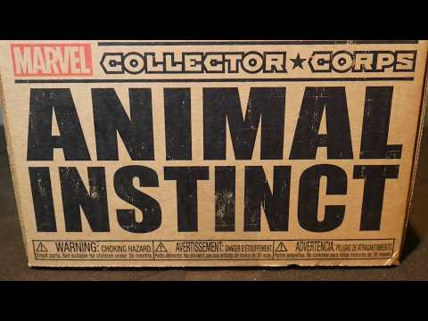 Funko Marvel Collector Corps February 2018 Animal Instinct Theme Unboxing