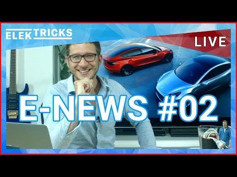 E-News #02 mit Porsche Mission E, Tesla, Diesel Fahrverbot, Diesel Gipfel, E-Taxis - KW31/17