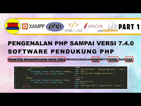 Part 1 - Learning PHP And HTML | CSS