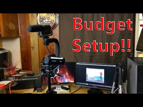 Best Budget youtube setup!! Cheap Cameras and Editing PC