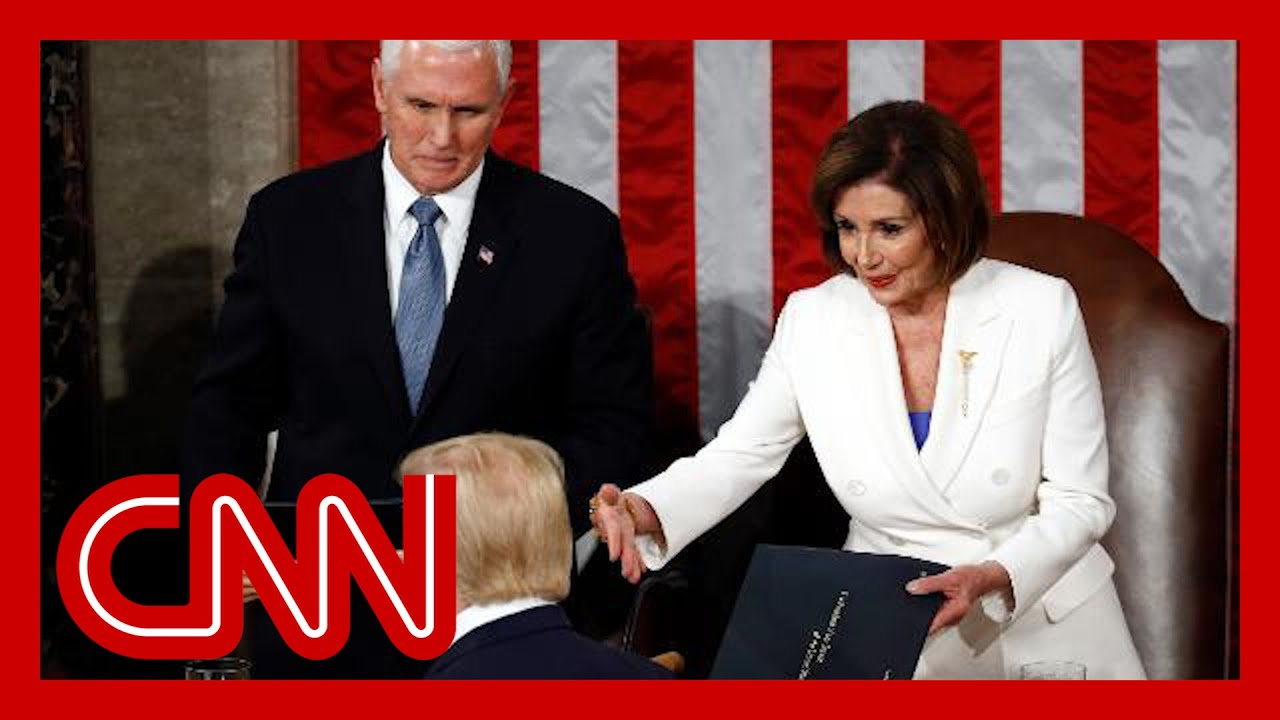 Pelosi extended her hand to Trump. He didn't take it.