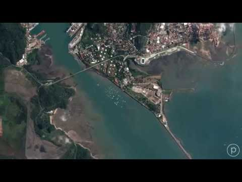 Imaging the Panama Canal from Space