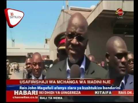 Rais Magufuli Afanya Ziara Ya Kushtukiza Bandari Ya Dar es Salaam