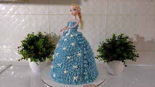 Как сделать торт куклу из крема Торт ЭЛЬЗА ТОРТ КУКЛА своими руками