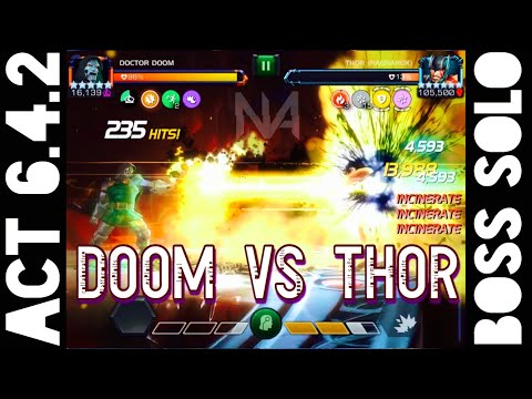 Act 6.4.2 Doctor Doom Vs Thor Ragnarok Boss Solo