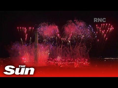 Fireworks spell 'Trump 2020' after President gives RNC speech