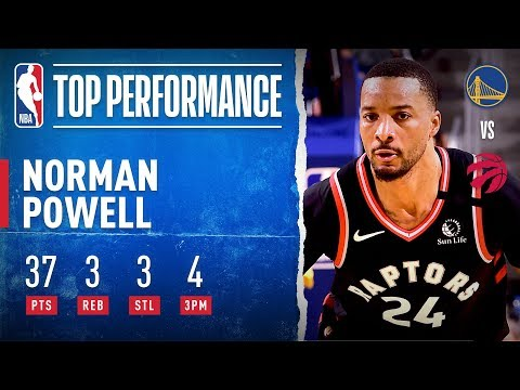 Norman Powell highlights vs. Warriors - 37 Pts (13/21 FGs)