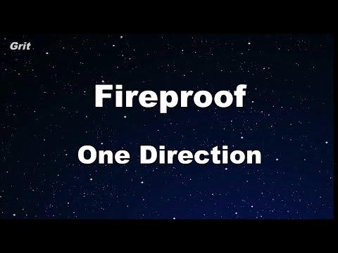 Fireproof - One Direction Karaoke 【No Guide Melody】 Instrumental