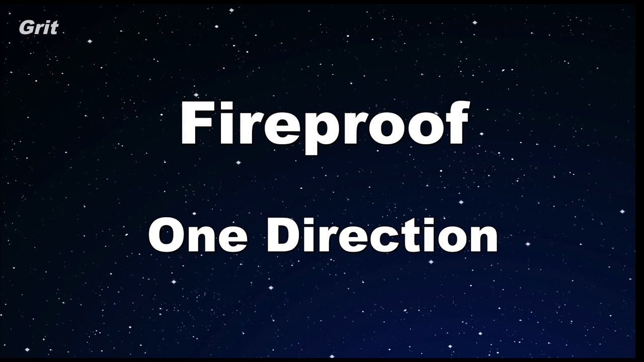 One direction fireproof karaoke online