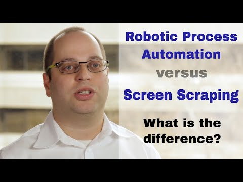 Screen scraping versus Robotic Process Automation - What is the difference?