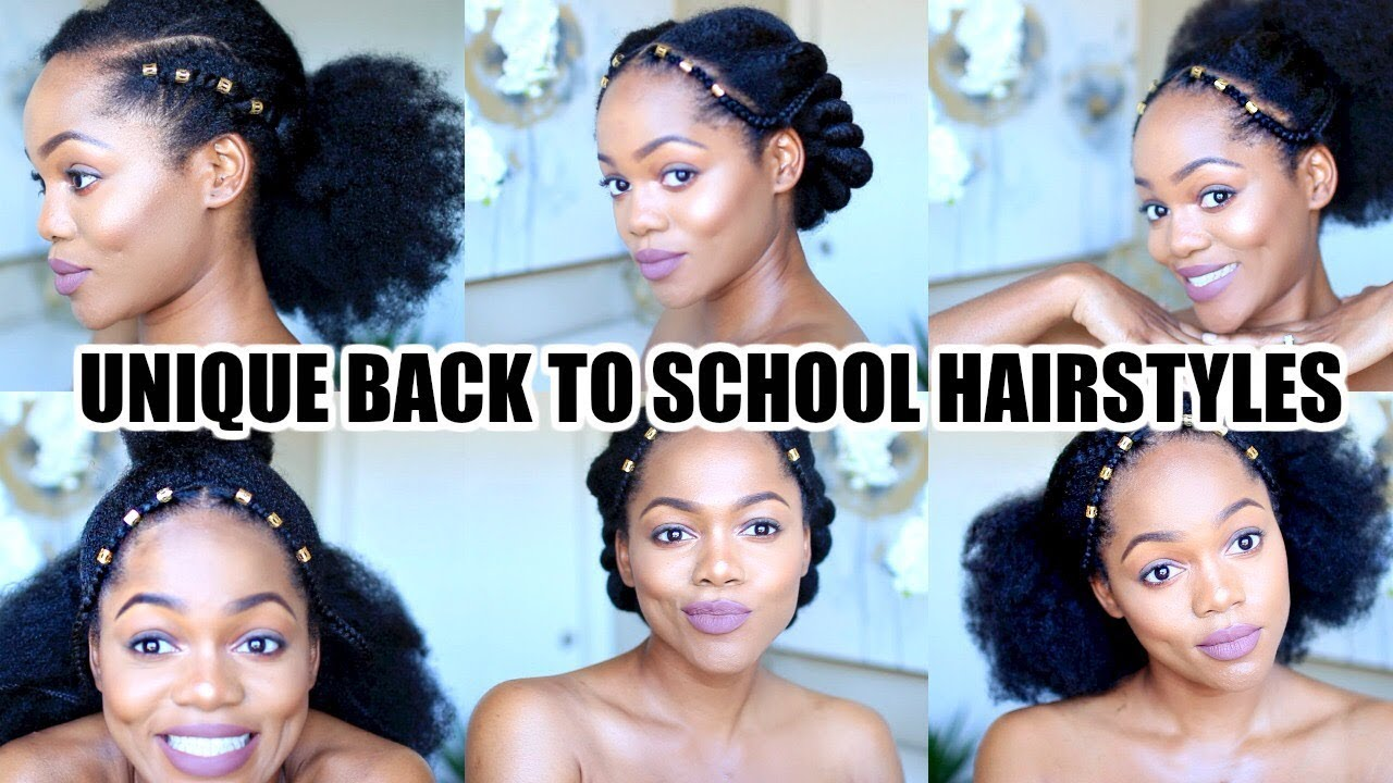 9 Easy Hairstyles For School: 6 FAST & EASY BACK TO SCHOOL HAIRSTYLES FOR NATURAL HAIR