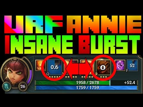 URF is BACK PBE | Annie has INSANE BURST | League of Legends | Annie Oneshots Full AP | Patch 7.4