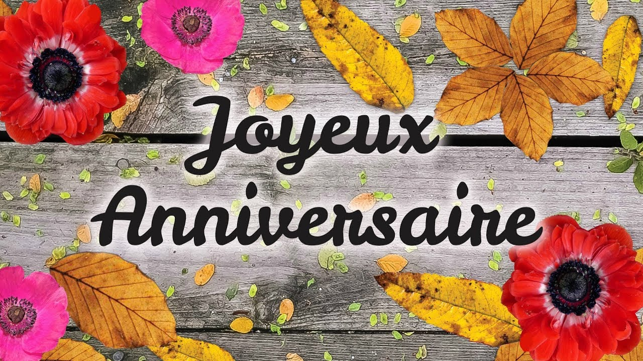 Jolie Carte Virtuelle D Anniversaire Joyeux Anniversaire Automne Youtube